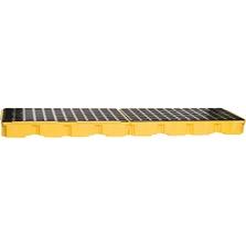 4-Drum Yellow In-Line Modular Spill Platform, No Drain