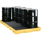 8-Drum Yellow Modular Spill Platform, w/Drain