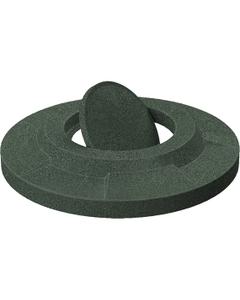 55 Gallon Drum Green Granite Plastic Bug Barrier Trash Receptacle Lid
