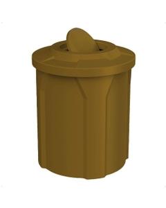 42 Gallon Brown Trash Receptacle, Flat Top Bug Barrier