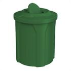 42 Gallon Green Trash Receptacle, Flat Top Bug Barrier