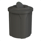 42 Gallon Black Trash Receptacle, Flat Top Bug Barrier