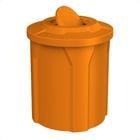 42 Gallon Orange Trash Receptacle, Flat Top Bug Barrier