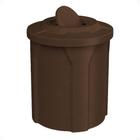 42 Gallon Brown Granite Trash Receptacle, Flat Top Bug Barrier
