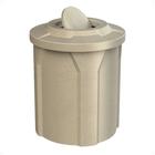 42 Gallon Beige Granite Trash Receptacle, Flat Top Bug Barrier Lid
