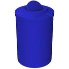55 Gallon Blue Trash Receptacle, Flat Top Bug Barrier Lid