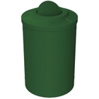 55 Gallon Green Trash Receptacle, Flat Top Bug Barrier Lid