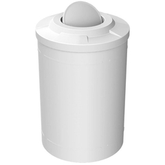 55 Gallon White Trash Receptacle, Flat Top Bug Barrier Lid