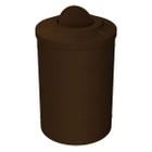 55 Gallon Brown Granite Trash Receptacle, Flat Top Bug Barrier Lid