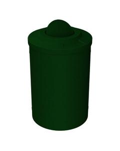 55 Gallon Green Granite Trash Receptacle, Flat Top Bug Barrier Lid