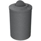 55 Gallon Dark Granite Trash Receptacle, Flat Top Bug Barrier Lid