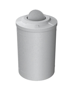 55 Gallon Light Granite Trash Receptacle, Flat Top Bug Barrier Lid