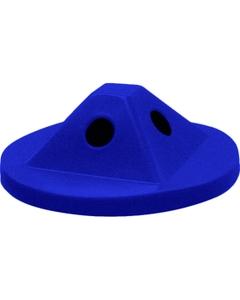 55 Gallon Drum Blue Plastic Pyramid Recycling Lid