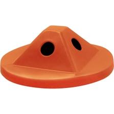 55 Gallon Drum Orange Plastic Pyramid Recycling Lid