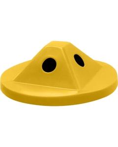 55 Gallon Drum Yellow Plastic Pyramid Recycling Lid