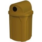 42 Gallon Brown Recycling Receptacle, 2-Way (Dual 5