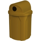 """42 Gallon Brown Recycling Receptacle, 2-Way (Dual 5"""" Opening) Lid"""