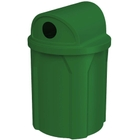 """42 Gallon Green Recycling Receptacle, 2-Way (Dual 5"""" Opening) Lid"""