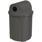 42 Gallon Black Recycling Receptacle, 2-Way (Dual 5