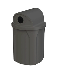 """42 Gallon Black Recycling Receptacle, 2-Way (Dual 5"""" Opening) Lid"""