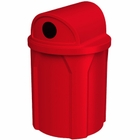 42 Gallon Red Recycling Receptacle, 2-Way (Dual 5
