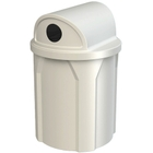 42 Gallon White Recycling Receptacle, 2-Way (Dual 5