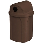"""42 Gallon Brown Granite Recycling Receptacle, 2-Way (Dual 5"""" Opening) Lid"""