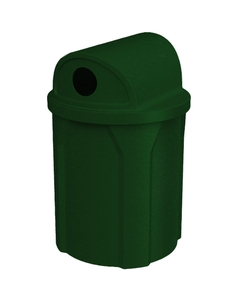 """42 Gallon Green Granite Recycling Receptacle, 2-Way (Dual 5"""" Opening) Lid"""