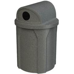 "42 Gallon Dark Granite Recycling Receptacle, 2-Way (Dual 5"" Opening) Lid"