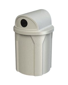 """42 Gallon Light Granite Recycling Receptacle, 2-Way (Dual 5"""" Opening) Lid"""