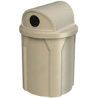 """42 Gallon Beige Granite Recycling Receptacle, 2-Way (Dual 5"""" Opening) Lid"""