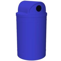55 Gallon Blue Recycling Receptacle, 2-Way (Dual 5
