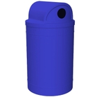 """55 Gallon Blue Recycling Receptacle, 2-Way (Dual 5"""" Opening) Lid"""