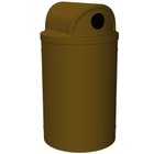 """55 Gallon Brown Recycling Receptacle, 2-Way (Dual 5"""" Opening) Lid"""