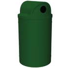 """55 Gallon Green Recycling Receptacle, 2-Way (Dual 5"""" Opening) Lid"""