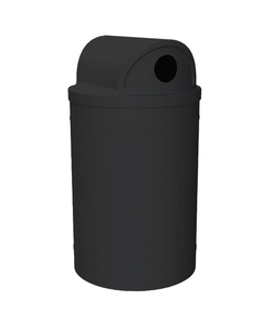 """55 Gallon Black Recycling Receptacle, 2-Way (Dual 5"""" Opening) Lid"""