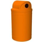 55 Gallon Orange Recycling Receptacle, 2-Way (Dual 5