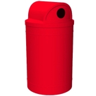 """55 Gallon Red Recycling Receptacle, 2-Way (Dual 5"""" Opening) Lid"""