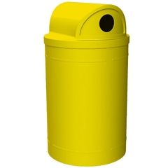 55 Gallon Yellow Recycling Receptacle, 2-Way (Dual 5