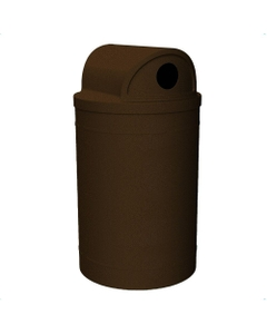 """55 Gallon Brown Granite Recycling Receptacle, 2-Way (Dual 5"""" Opening) Lid"""