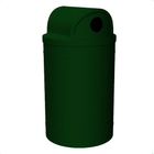 """55 Gallon Green Granite Recycling Receptacle, 2-Way (Dual 5"""" Opening) Lid"""