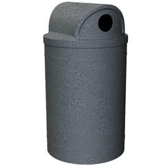 "55 Gallon Dark Granite Recycling Receptacle, 2-Way (Dual 5"" Opening) Lid"