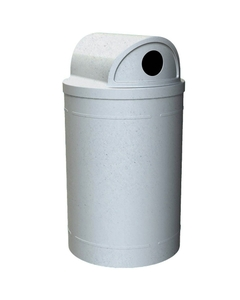 """55 Gallon Light Granite Recycling Receptacle, 2-Way (Dual 5"""" Opening) Lid"""