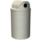 """55 Gallon Beige Granite Recycling Receptacle, 2-Way (Dual 5"""" Opening) Lid"""