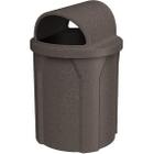 42 Gallon Brown Granite Trash Receptacle, 2-Way Open Lid