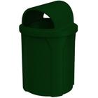 42 Gallon Green Granite Trash Receptacle, 2-Way Open Lid
