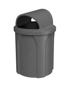 42 Gallon Dark Granite Trash Receptacle, 2-Way Open Lid