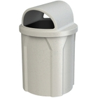 42 Gallon Light Granite Trash Receptacle, 2-Way Open Lid