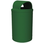55 Gallon Green Trash Receptacle, 2-Way Open Lid