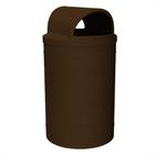 55 Gallon Brown Granite Trash Receptacle, 2-Way Open Lid